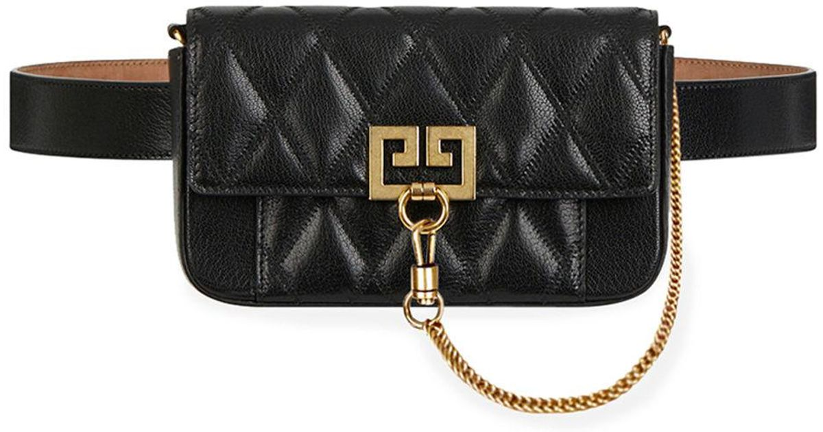 Lyst - Givenchy Pocket Mini Pouch Convertible Clutch belt Bag - Golden  Hardware in Black acf5c9aa6ea45