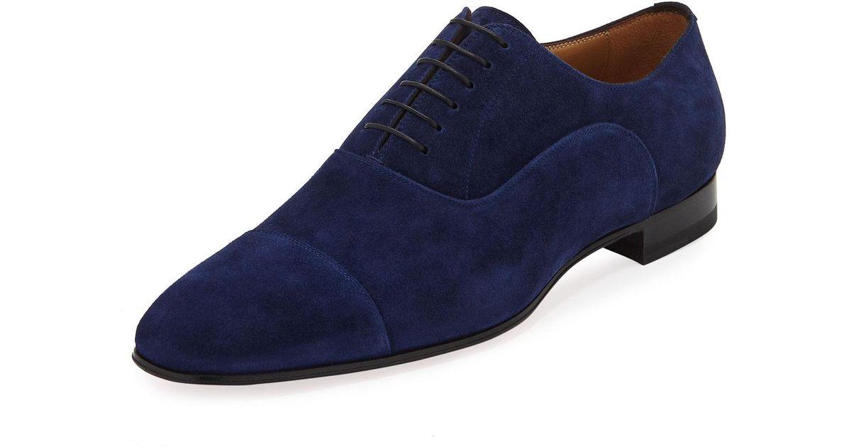 fb932f3e132 Christian Louboutin Blue Greggo Men's Suede Red Sole Oxford for men