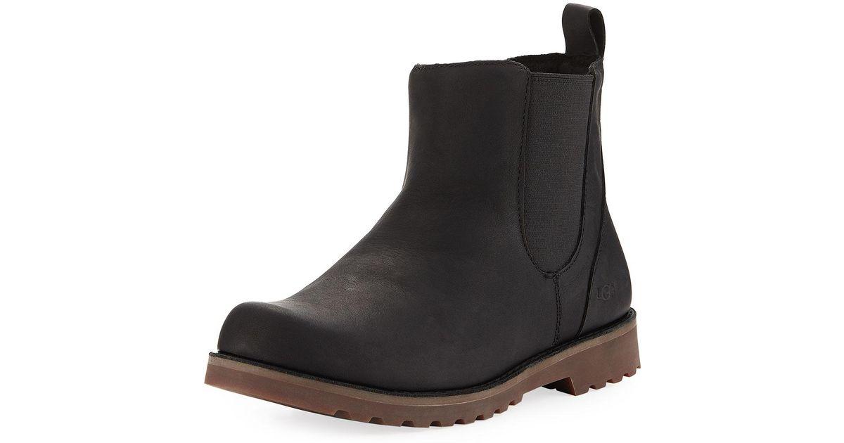e351df2746b Ugg Black Callum Leather Chelsea Boot for men