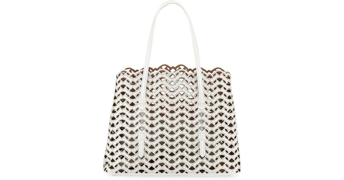 d48085713 Alaïa Classic Laser-cut Tote Bag in White - Lyst