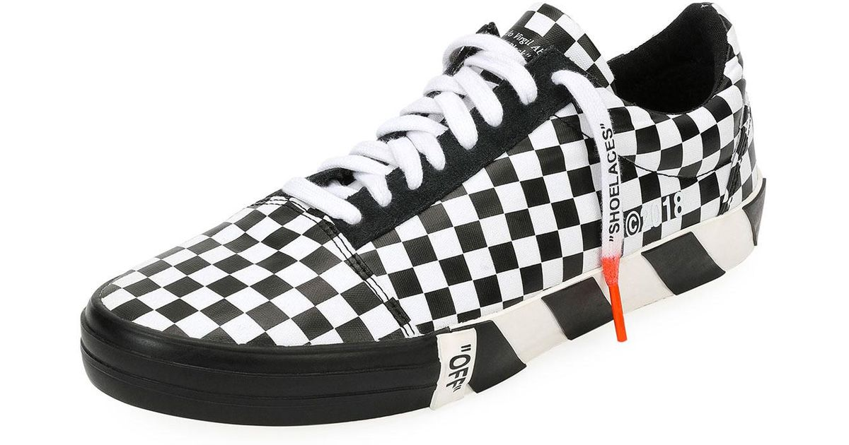 c6cb58e3a0981 Off-White c/o Virgil Abloh Multicolor Men's Vulc Checkered Low-top Sneaker  for men