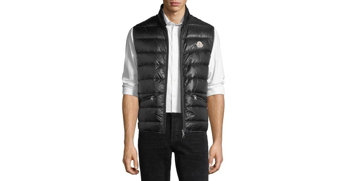 f0320455b Moncler Black Gui Quilted Puffer Vest for men