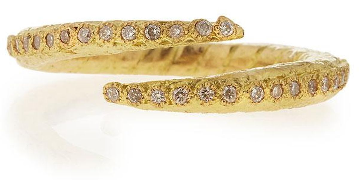 Armenta Sueño 18k Crisscross Diamond Ring szdnY