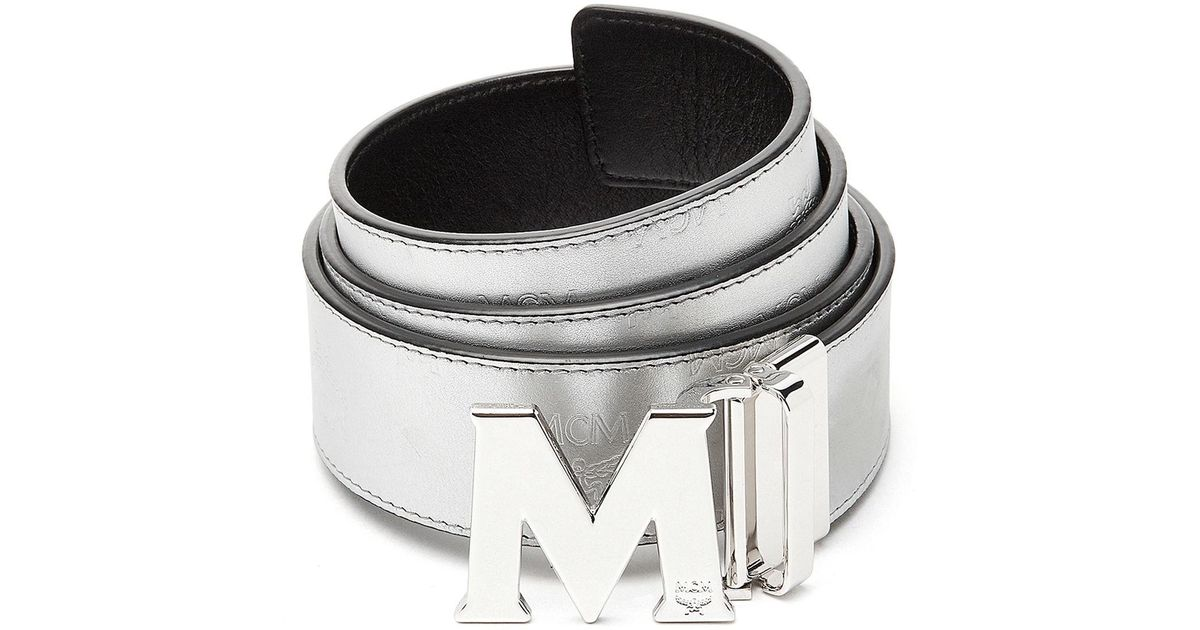 Mcm Leather Metallic Embossed Visetos Belt For Men Lyst Unfollow mcm belt to stop getting updates on your ebay feed. mcm metallic embossed visetos belt for men