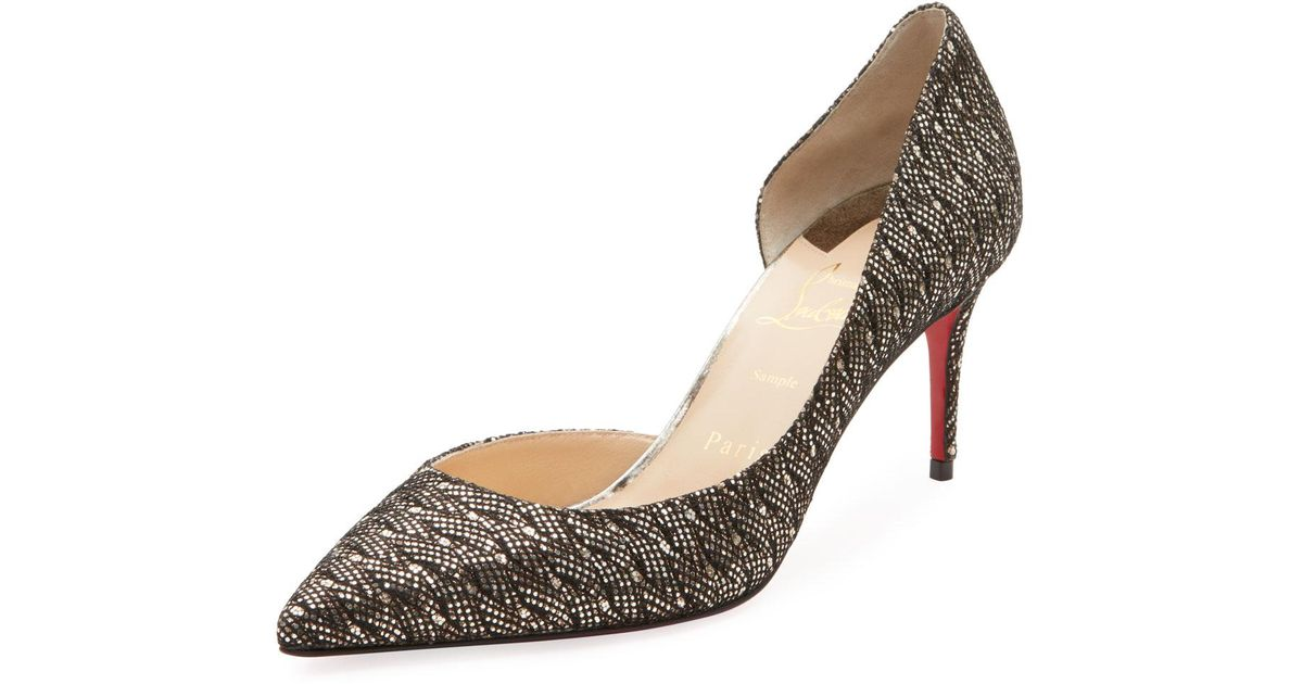 100cd48c8f4 Christian Louboutin Multicolor Iriza Glitter Palaces Red Sole Pumps