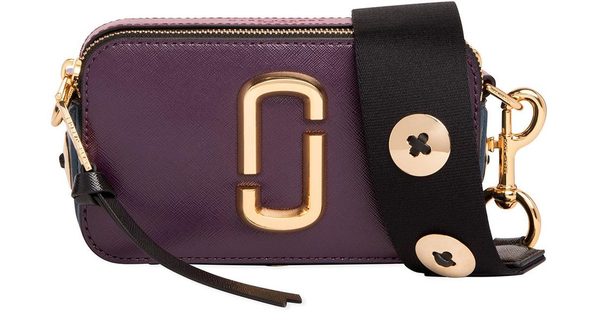 6cad01394 Marc Jacobs Snapshot Buttons Crossbody Camera Bag in Purple - Lyst