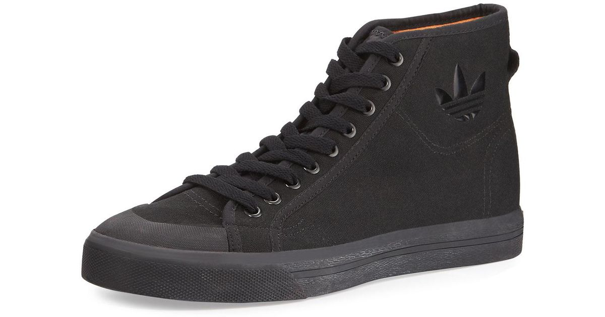 205923008b5f03 Lyst - adidas By Raf Simons Men s Spirit Canvas High-top Sneakers in Black
