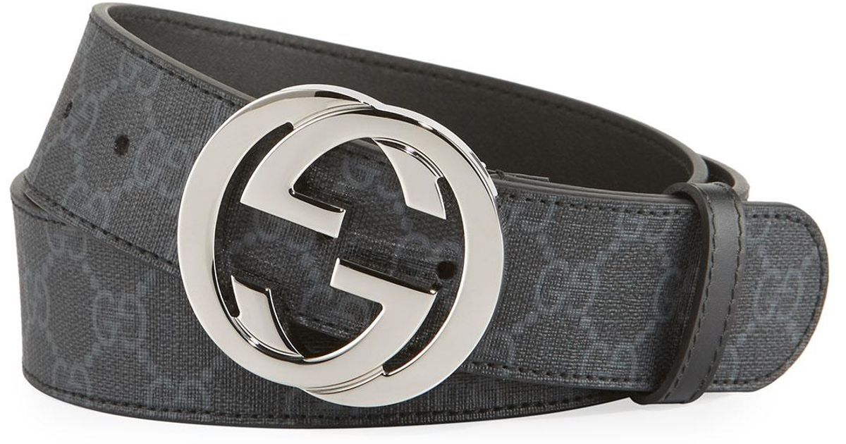 bd99c9910399f ... Leather belt with Double G buckle · Lyst · Brandeal Rakuten Ichiba Shop  · Black Gucci ...