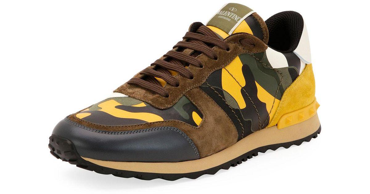 Rockrunner Camo Leather Sneaker for Men