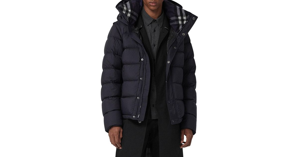 59babdfa3ab1 Lyst - Burberry Men s Hartley 2-in-1 Puffer Coat in Blue for Men