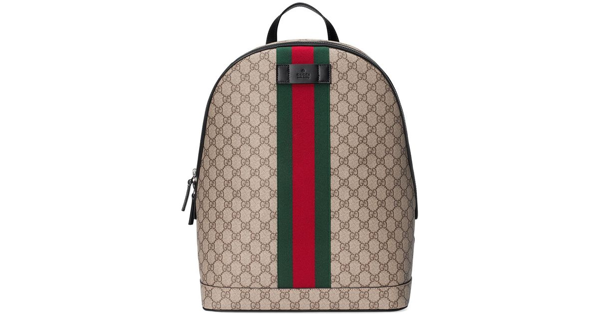 3db41834eca Lyst - Gucci Men s Gg Supreme Web Backpack With Laptop Sleeve in Natural  for Men