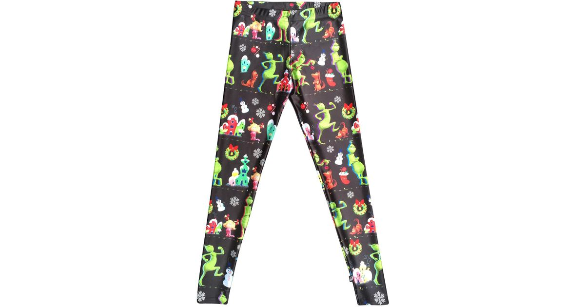 9d7eb39dca0798 Lyst - Terez The Grinch Whoville Printed Leggings