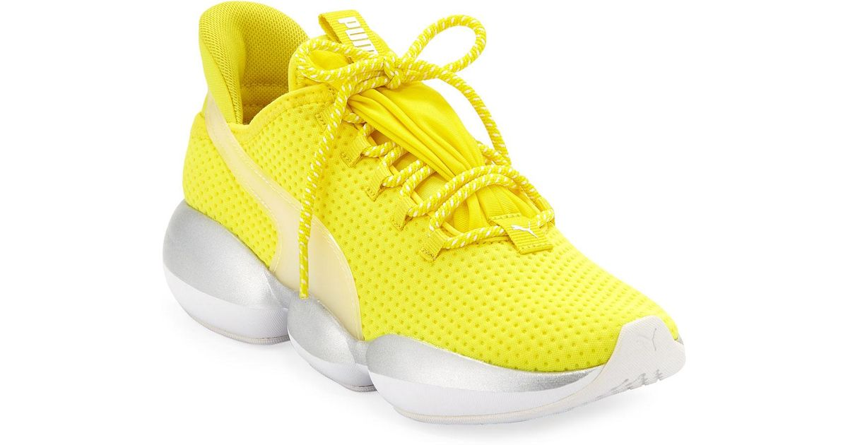 6b4ee6d4ad PUMA Yellow Mode Xt Knit Running Sneakers