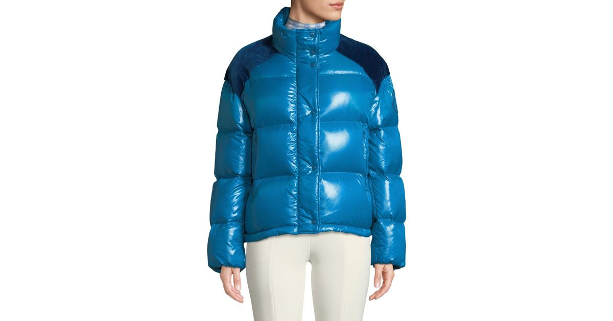 Moncler Blue Jacket Lyst Chouette In 81BIqIOdw 70fb9dbdfe4a