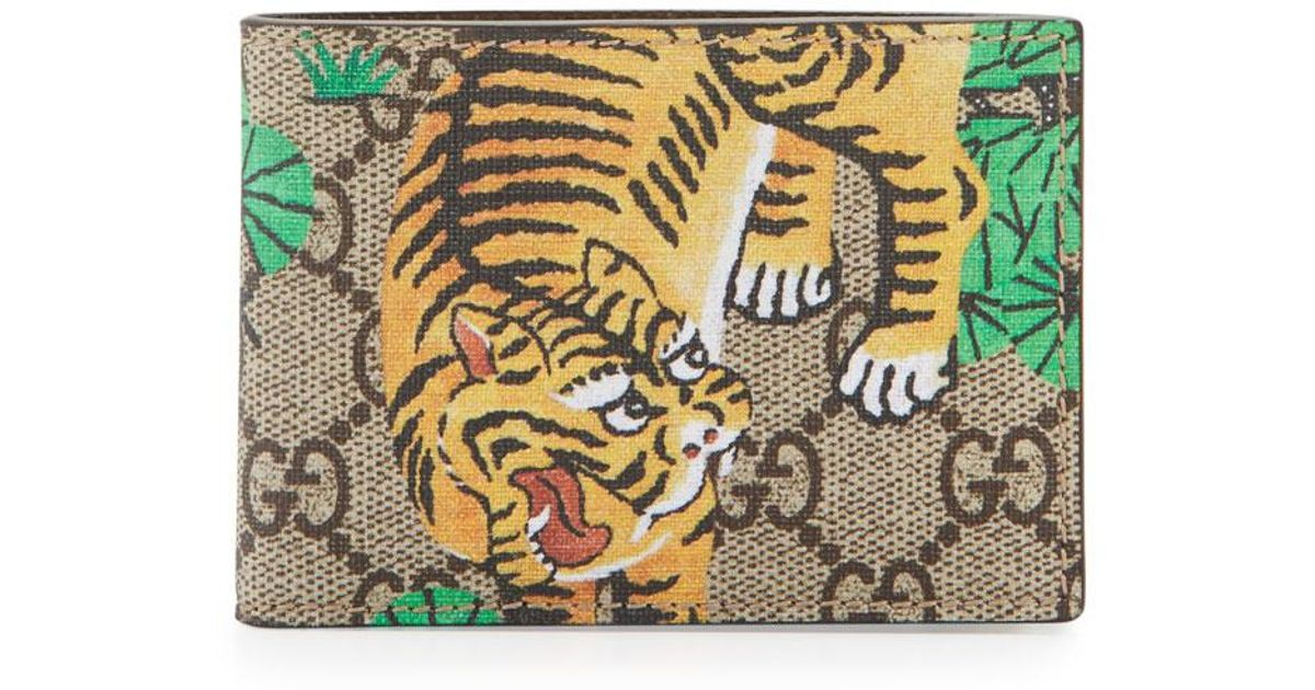 7cff89dfb935 Gucci Bengal Gg Supreme Wallet in Natural for Men - Lyst