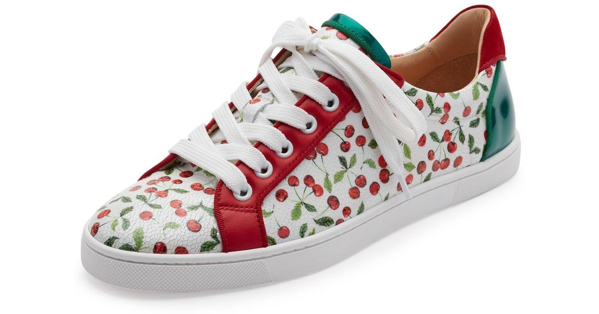 b1d461119d5 Lyst - Christian Louboutin Seava Cherry-print Low-top Sneaker in Red