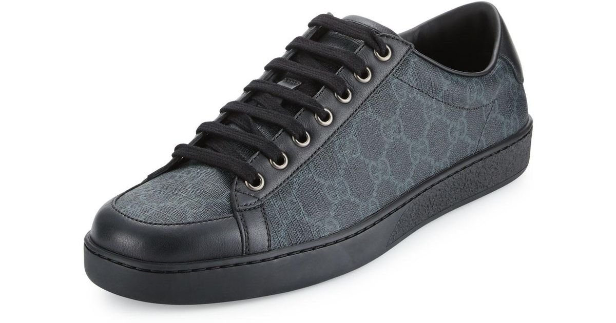 226f223a2ab916 Gucci Brooklyn Gg Supreme Fabric Lace-up Sneaker in Black for Men - Lyst