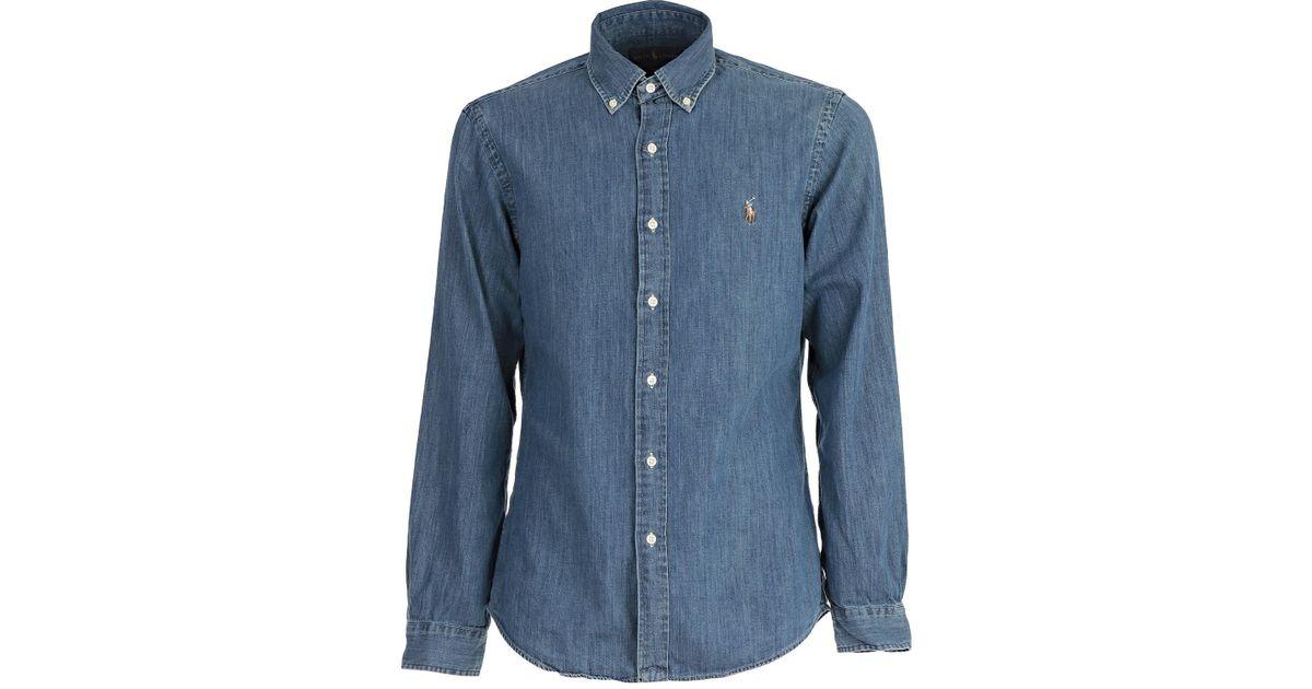 best service c371e 9a8ea Polo Ralph Lauren - Blue Camicia for Men - Lyst