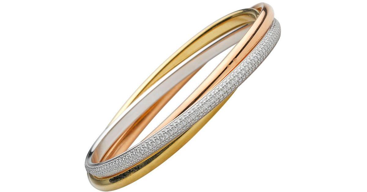 f19bfa3ac4d95 Cartier Metallic 18k Tri-colored Gold & Diamond