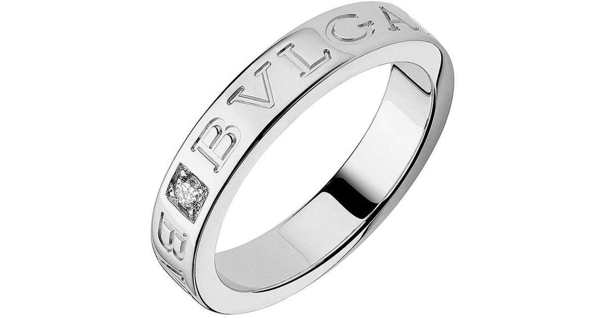 Bvlgari 18k White Gold Diamond Bvlgari Bvlgari Ring Lyst