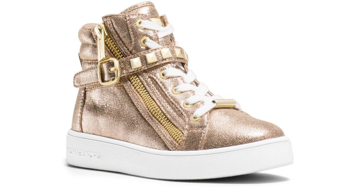 metallic gold high top sneakers cheap