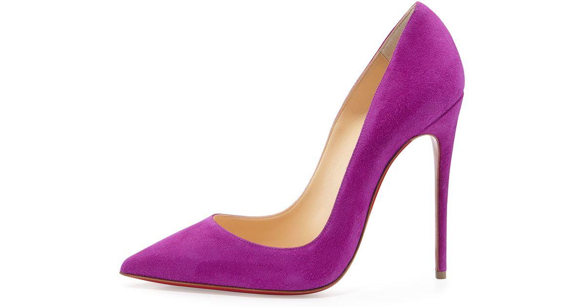 best authentic 56c4c f6e78 Christian Louboutin Purple So Kate Suede Pumps