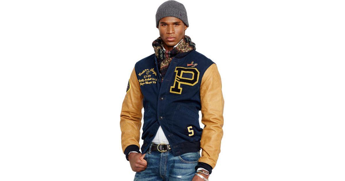 Jacket Ralph Varsity Davidson Lauren Blue para Hombres Polo PuwOiXZTlk