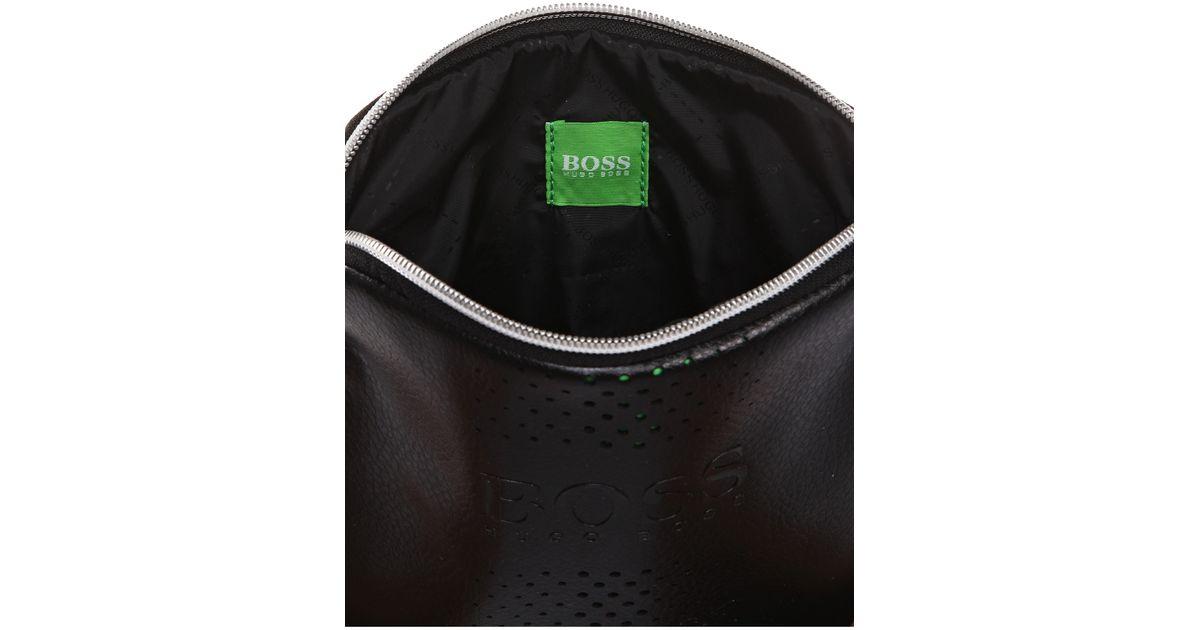 6da7b4bd98 BOSS Green Grained Mini Bag   mixton  in Black for Men - Lyst