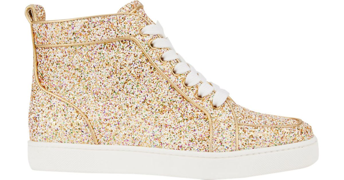 christian louboutin sneakers gold