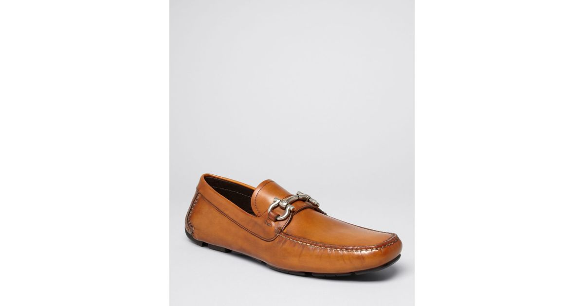 19715438aea Lyst - Ferragamo Parigi Leather Driving Loafers in Brown for Men
