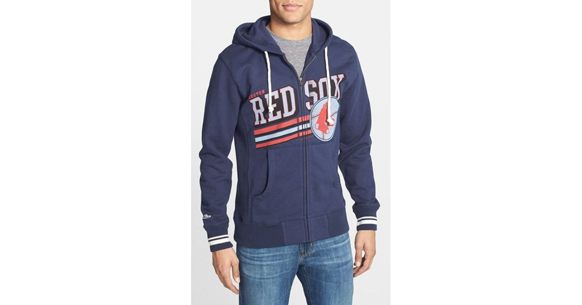 uk availability 06fcd 413f0 Mitchell & Ness Blue 'boston Red Sox - Race To The Finish' Full Zip Hoodie  for men