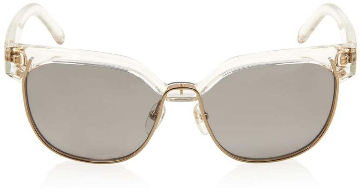 0706bebce08 Lyst - Chloé Square-Framed Angular Sunglasses in Metallic