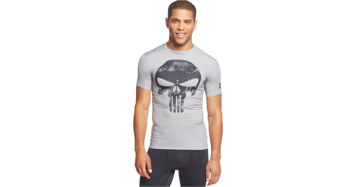 aa5670799a31 Lyst - Under Armour Alter Ego Punisher Compression T-Shirt in Gray for Men