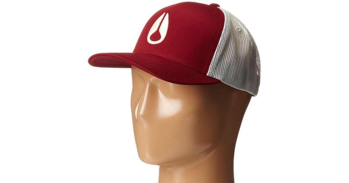 40e1a4f21 Nixon Red Iconed Trucker Hat