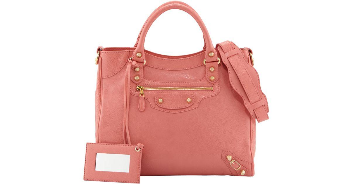 3d0faf2b5e4 Balenciaga Giant 12 Golden Velo Bag in Pink - Lyst