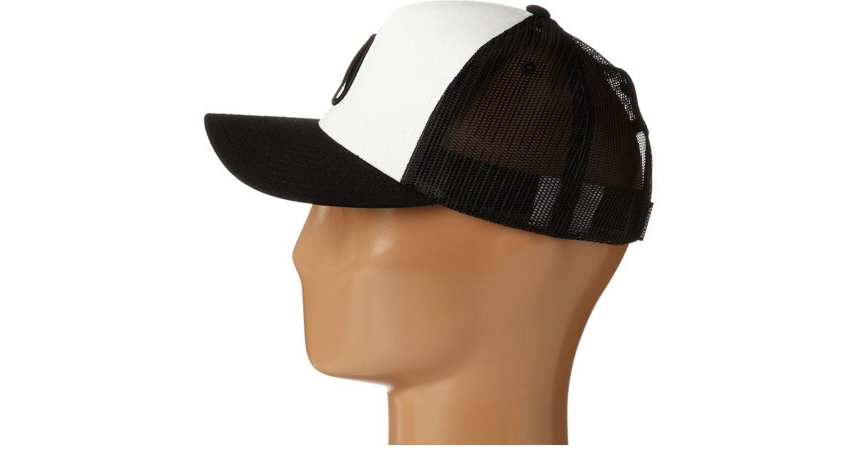 90a90fbc3 Nixon Black Iconed Trucker Hat