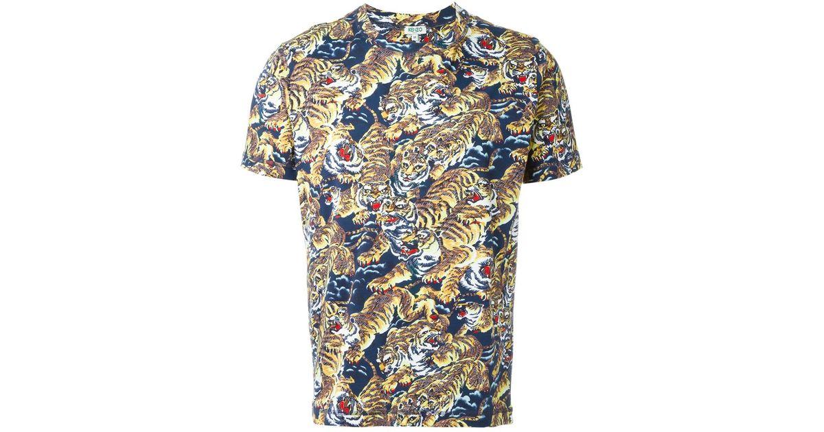 For T Shirt 'flying Multicolor Men Kenzo Tiger' sdrxtQCh