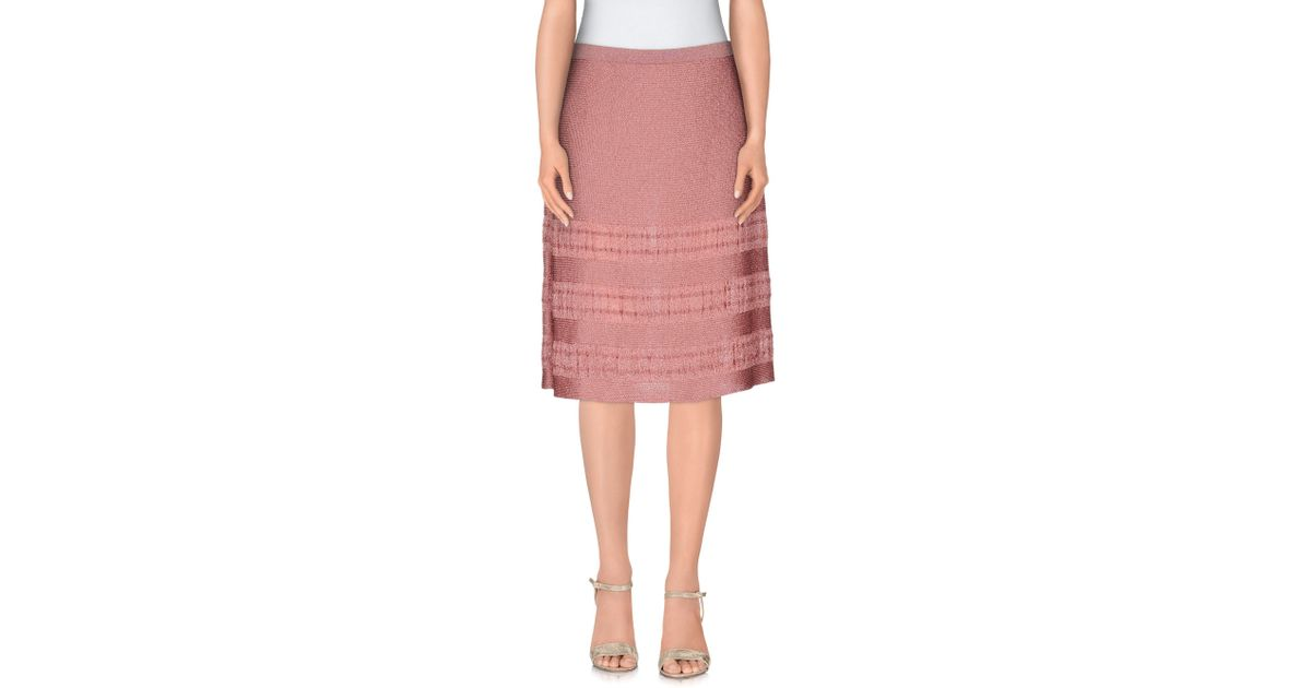 l autre chose knee length skirt in pink lyst