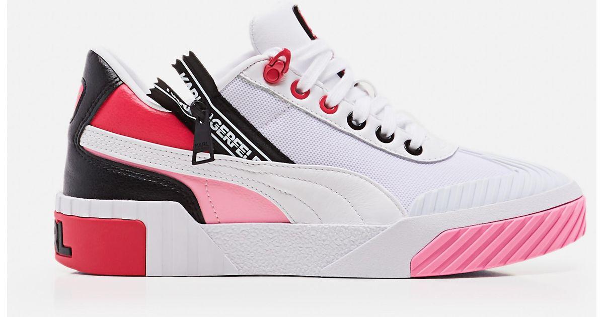 PUMA White X Karl Lagerfeld Cali Women's Training Shoes