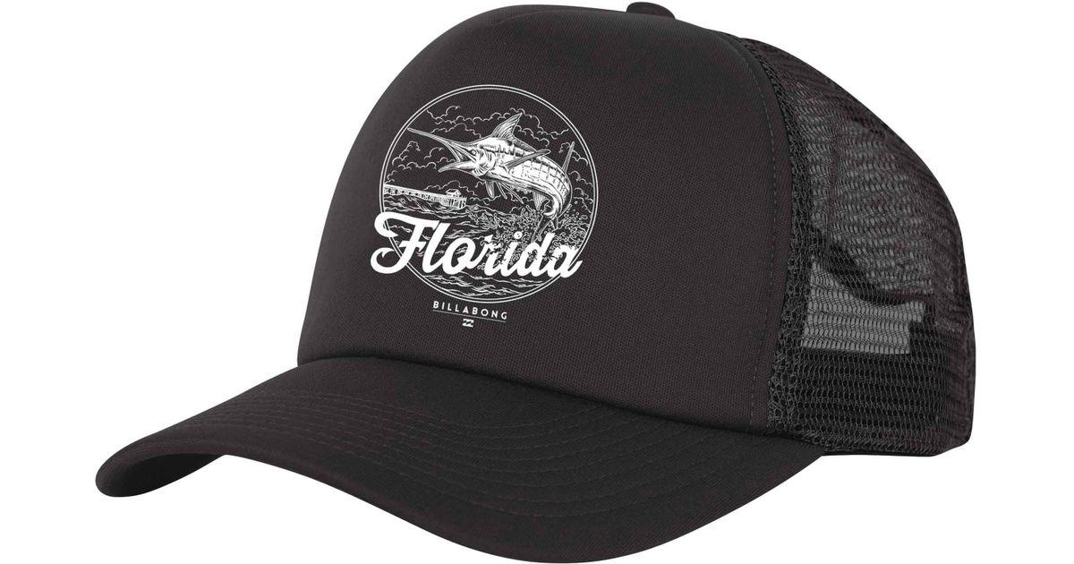 f86ce94959eb6 ... trucker cap eda29 bd287 clearance lyst billabong breach florida hat in  black for men 988ea c8ce4 ...