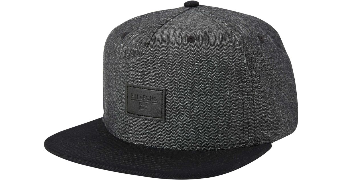 san francisco 445b9 fc46b Billabong Oxford Snapback Hat in Black for Men - Lyst