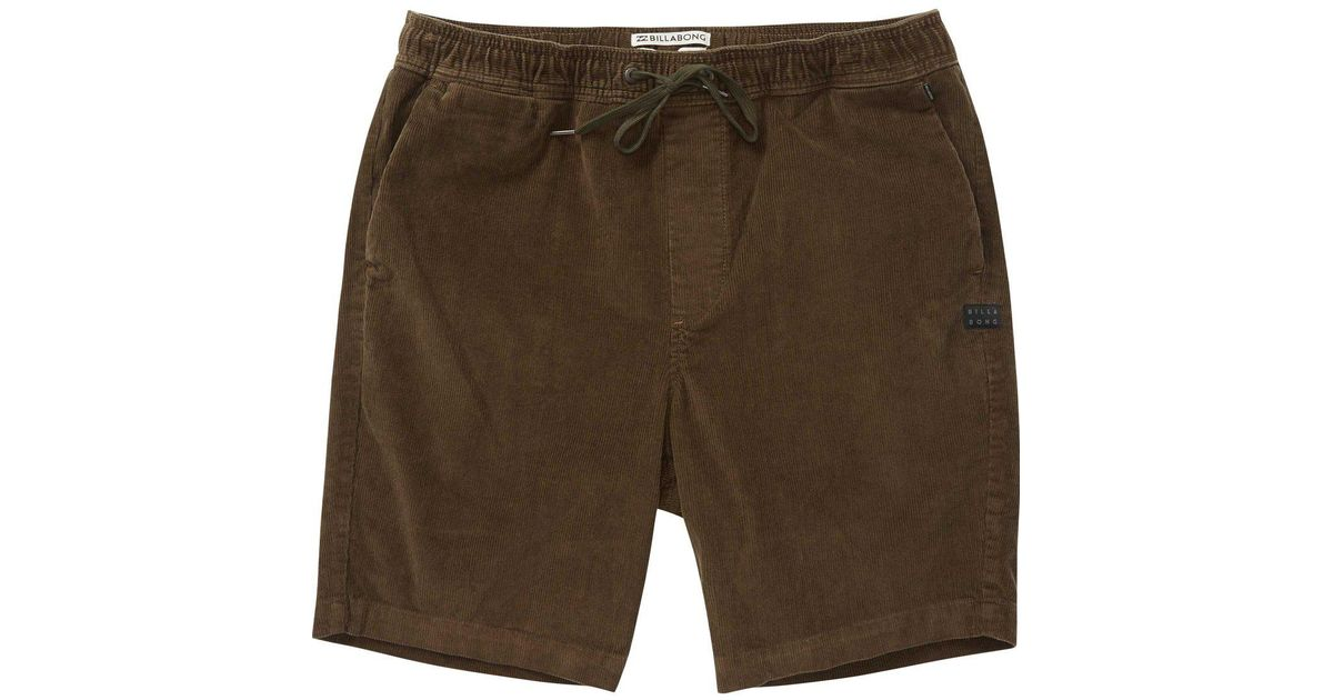3f31b1cfc54fe Lyst - Billabong Larry Layback Cord Shorts for Men