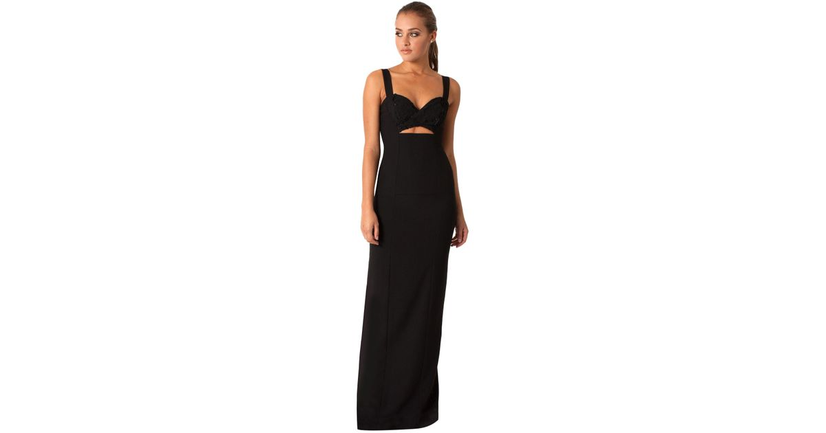 Lyst - Black Halo Rosalita Gown in Black