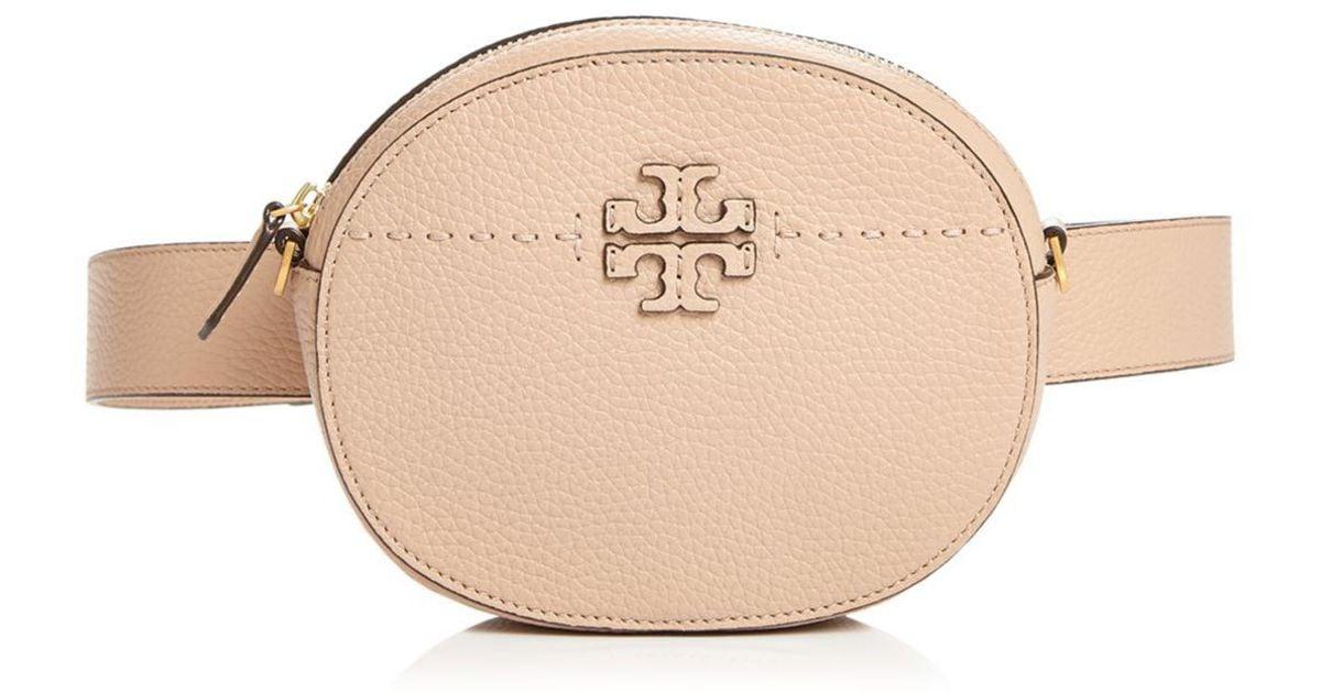 411b4d33df6c Lyst - Tory Burch Mcgraw Round Leather Convertible Crossbody