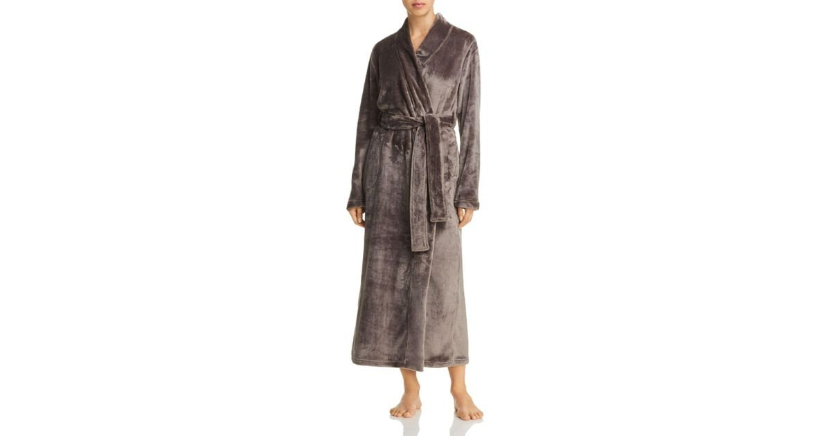 Lyst - UGG Marlow Plush Long Robe in Gray 277308c71