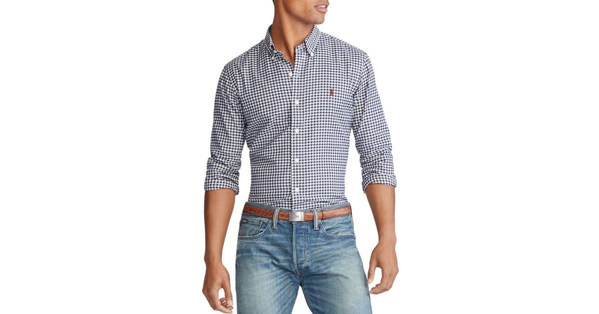 Polo Ralph Lauren Mens Standard-Fit Gingham Twill Shirt