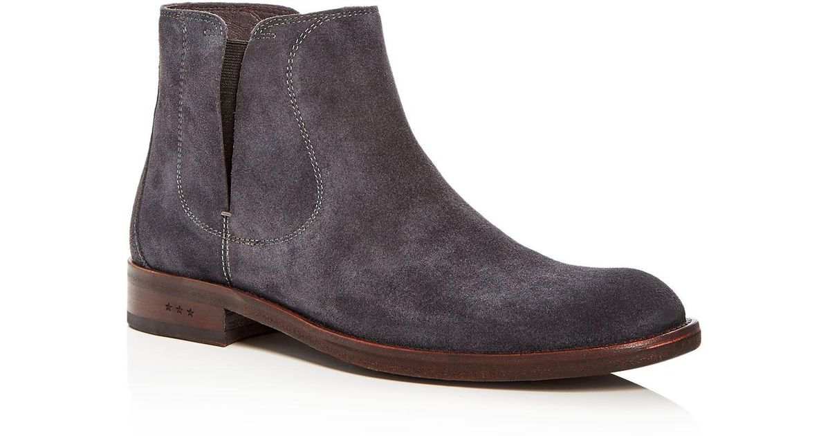 John Varvatos Waverly Covered Suede Chelsea Boots PtJVnjacd6