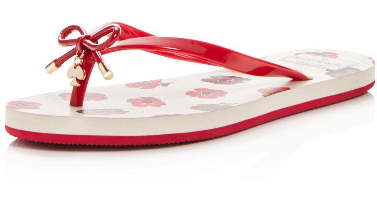 Kate Spade Nova Flip-flops in Red - Lyst