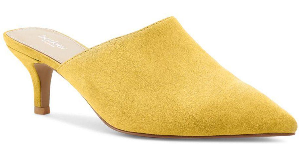 762f5e9e8eb Botkier Women s Paley Suede Kitten Heel Mules in Yellow - Lyst