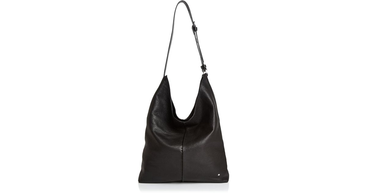a3389e06954b Lyst - Halston Heritage Tina North south Leather Shoulder Bag in Black
